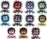 Casino Aces Laser Clay Poker Chip Sample Set - 11 New Chips